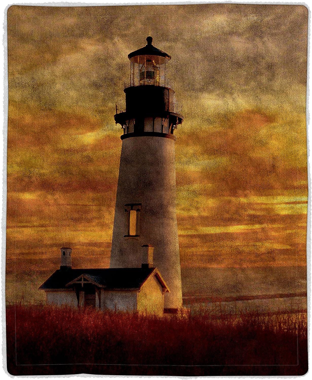 Bedford Home 64A-Lighthouse Sherpa Fleece Blanket