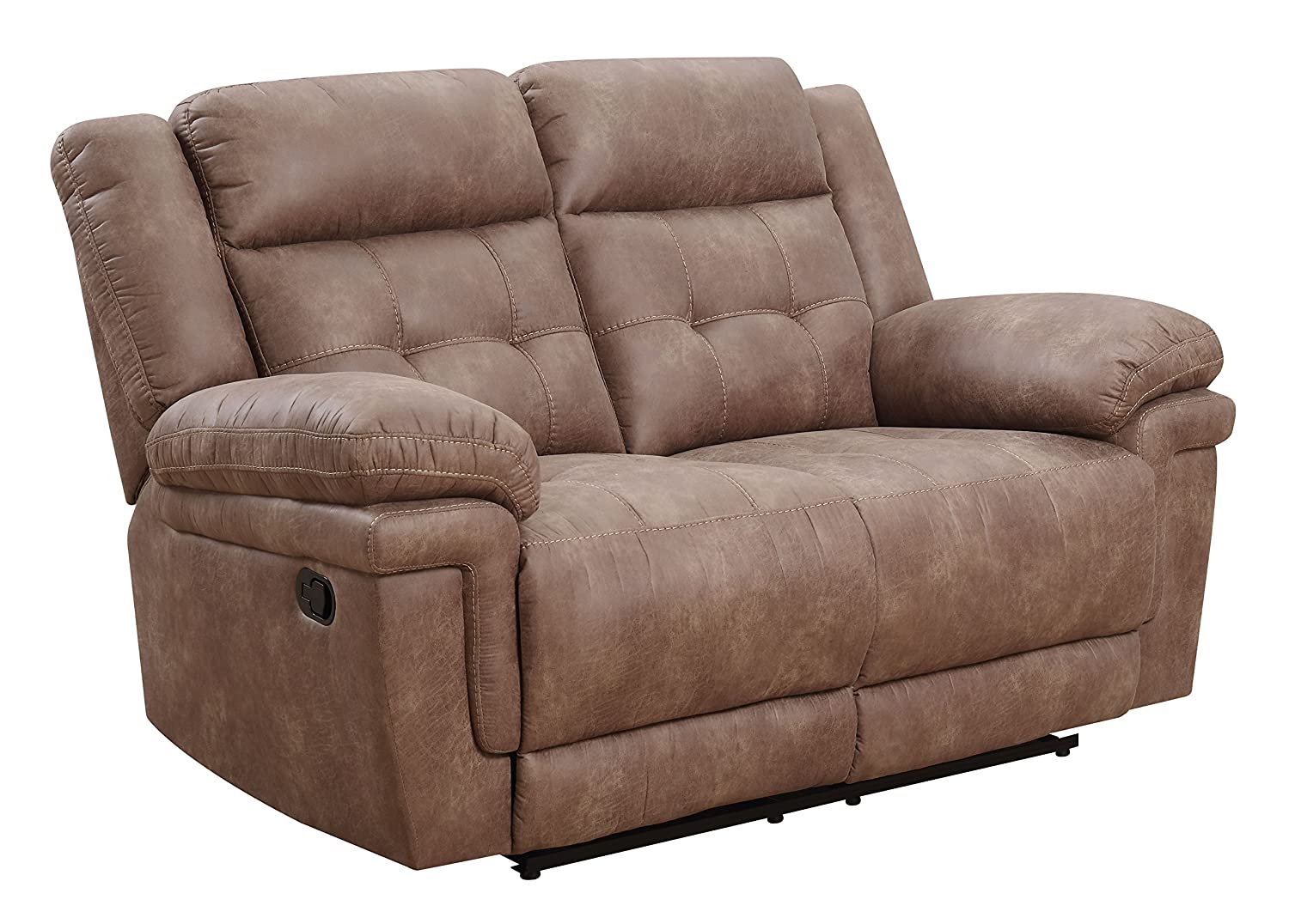 Remarkable Steve Silver Anastasia Fabric Reclining Loveseat In Cocoa Caraccident5 Cool Chair Designs And Ideas Caraccident5Info
