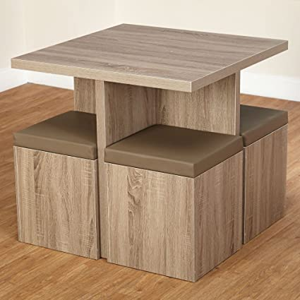 Excellent Amazon Com 5 Piece Dining Set Comes Complete With 4 Storage Evergreenethics Interior Chair Design Evergreenethicsorg