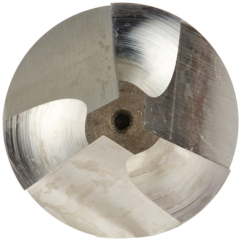 Bright Weldon Shank Non-Center Cutting 3 Flutes 3.5000 Overall Length 1.2500 Cutting Diameter 1.25 Shank Diameter Melin Tool R Cobalt Steel Corner Rounding End Mill Finish Uncoated 30 Deg Helix