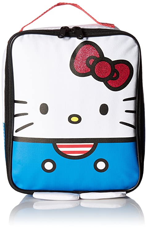 bccc0d14bab Image Unavailable. Image not available for. Color  Hello Kitty red White  and Blue Lunch Kit