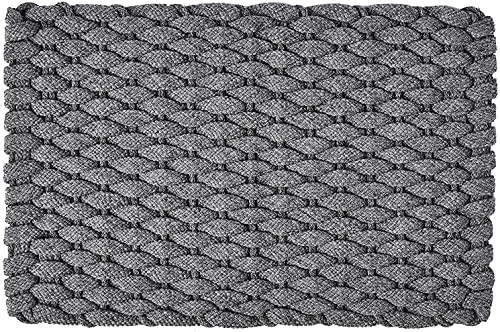 Rockport Rope Doormats 2034206 Indoor Outdoor Doormats, 20 x 34 , Gray