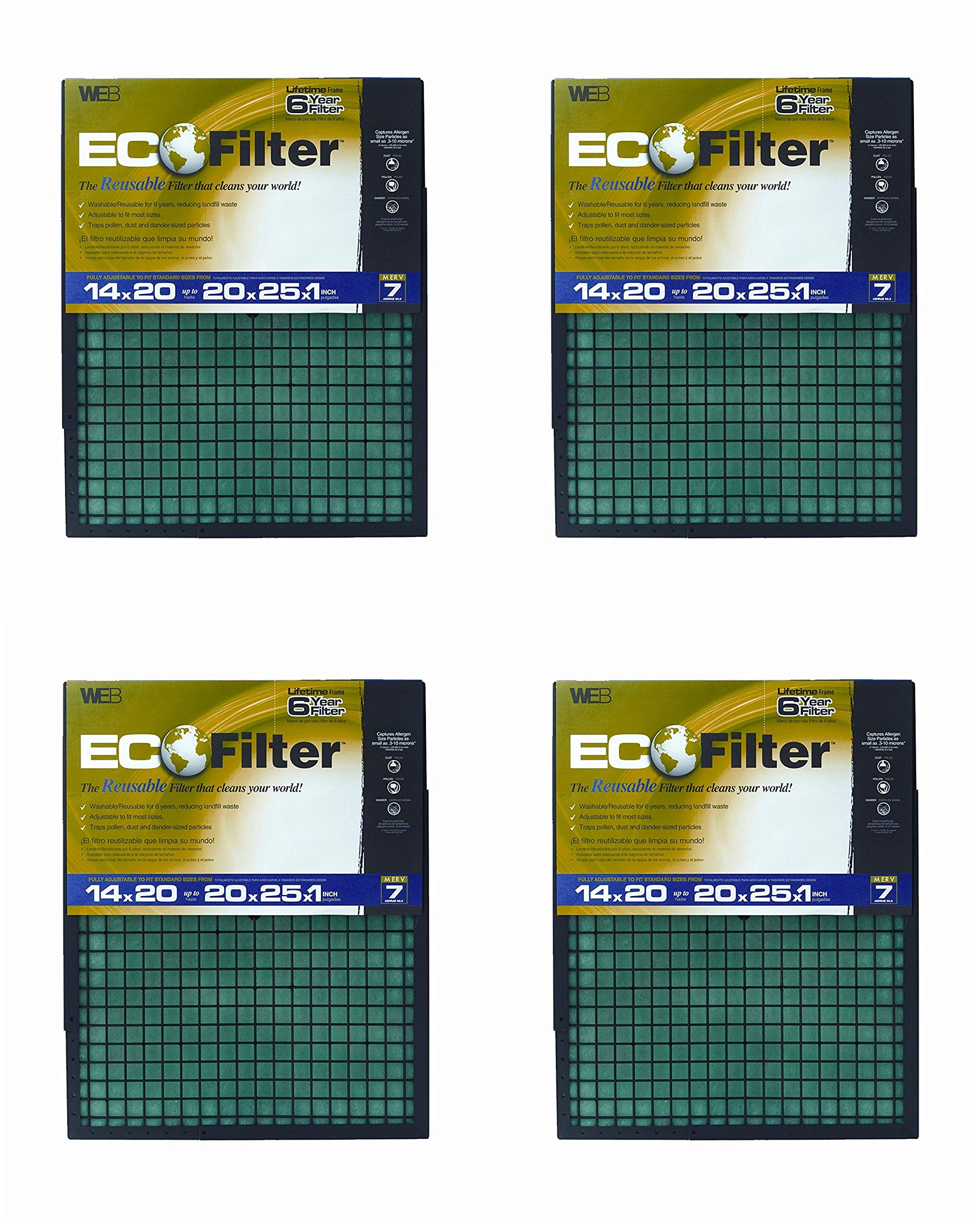WEB Eco Filter Adjustable, 6 Year (Pack of 4)