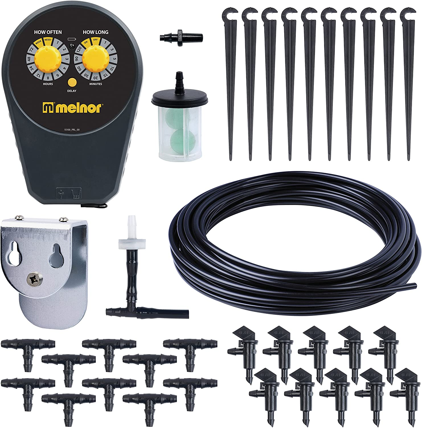 Gray Melnor 15100 Plant Watering Kit Indoor Drip System