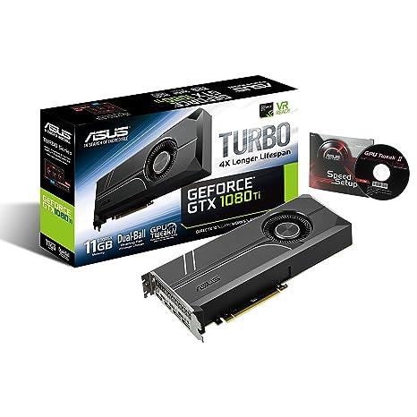 ASUS Turbo-GTX1080Ti-11G - Tarjeta gráfica, Color Negro