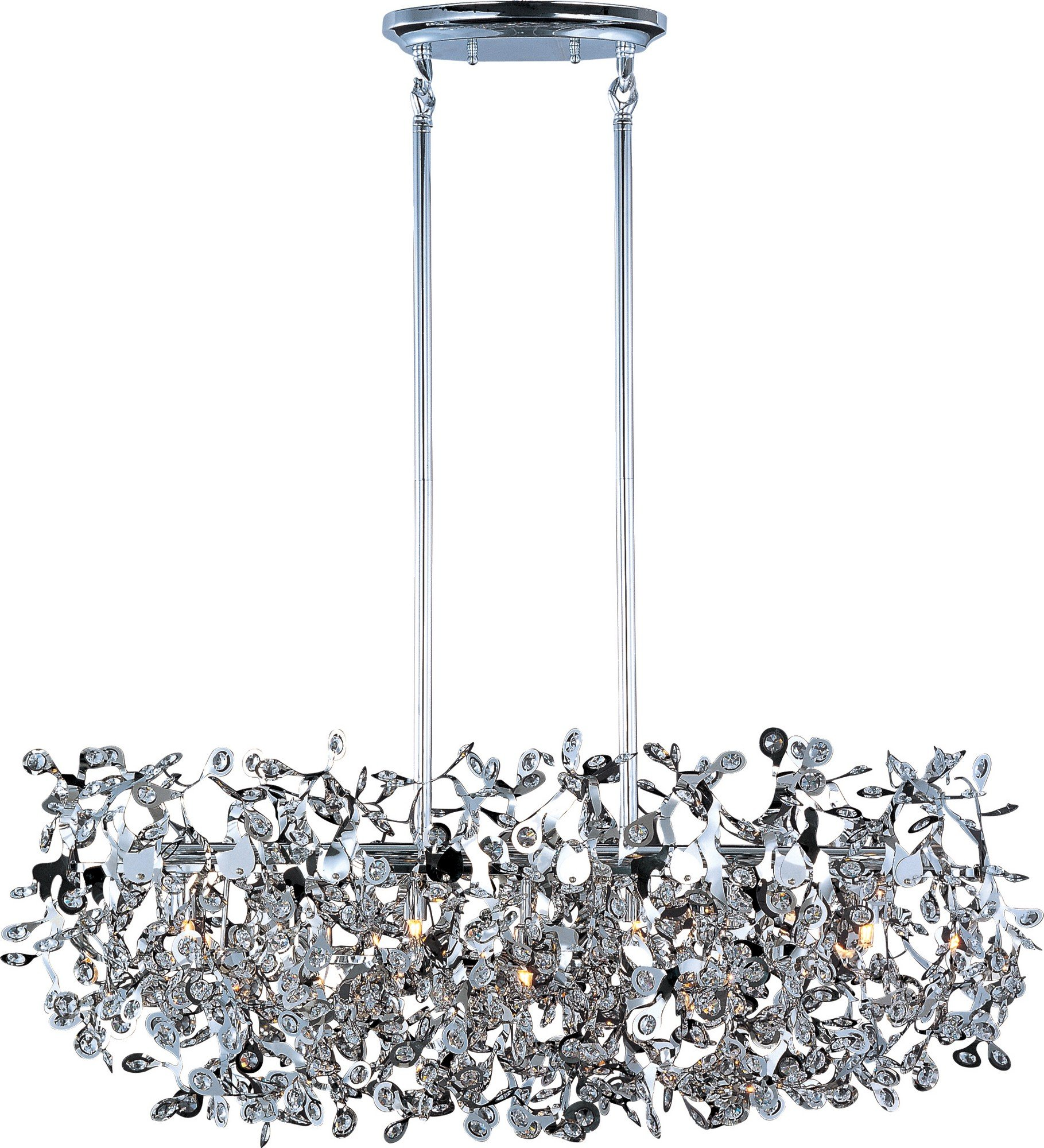 Maxim 24206BCPC Comet 7-Light Pendant, Polished Chrome Finish, Beveled Crystal Glass, G9 Xenon Xenon Bulb , 100W Max., Wet Safety Rating, Standard Dimmable, Glass Shade Material, 1150 Rated Lumens by Maxim Lighting (Image #1)