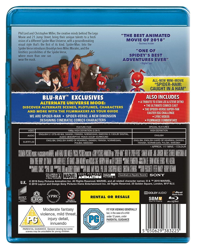 4d524292f Spider-man Into The Spider-Verse Blu-ray 2018 Region Free  Amazon.co.uk   Shameik Moore