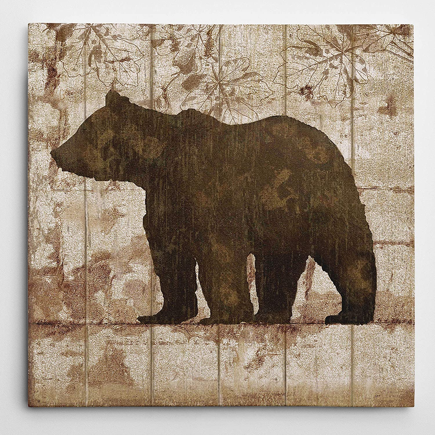 WEXFORD HOME Bear Crossing Picture Gallery Wrapped Canvas Wall Art, 24x24