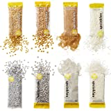 Wilton Silver and Gold Sprinkles Dessert Decorating Set, 8-Piece