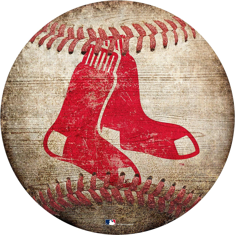 """Red Sox 12"""" Baseball Shaped Sign"""