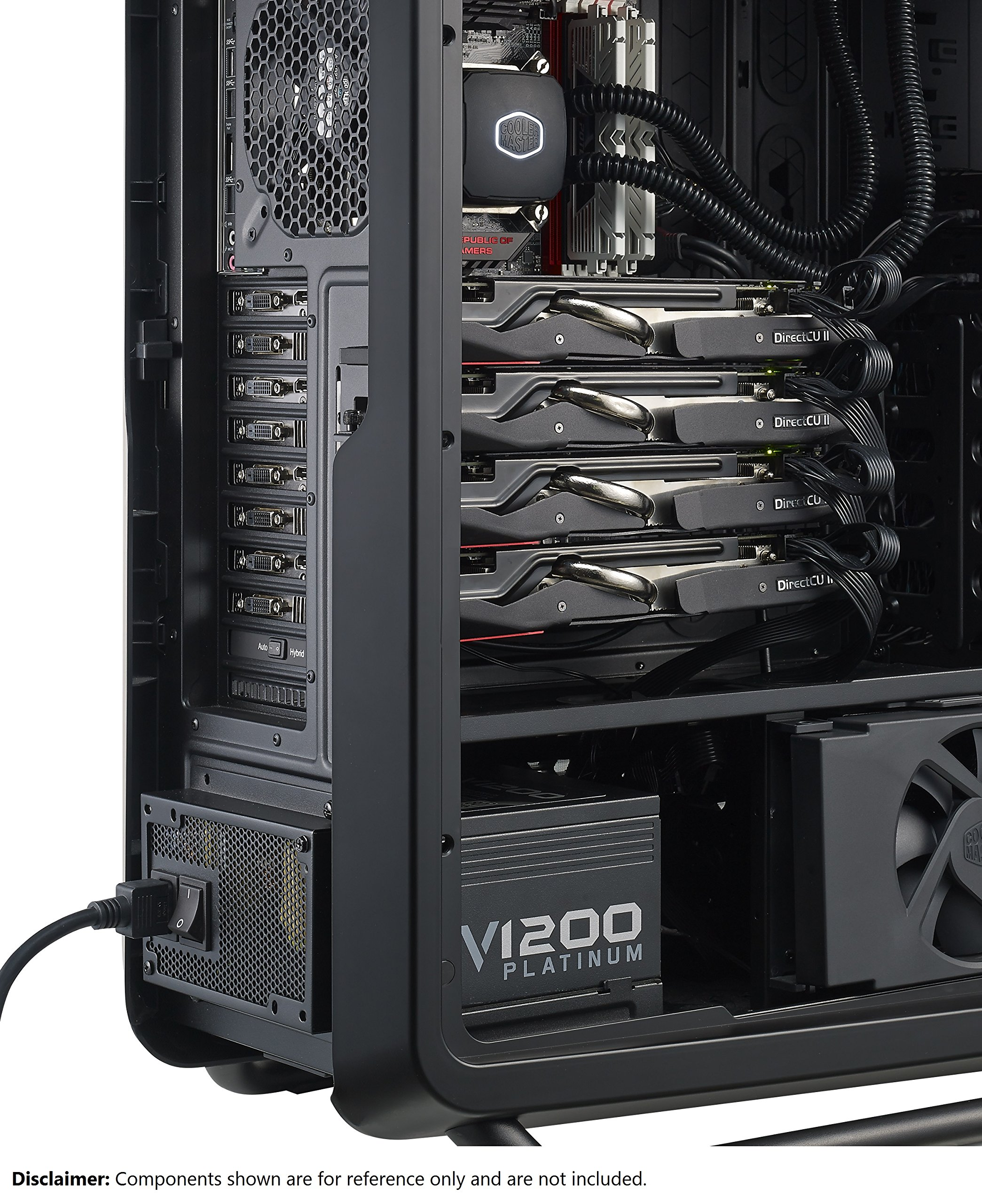 Cooler Master V1200 - Fully Modular 1200W 80 PLUS Platinum PSU with Silent Fanless Mode Operation (6th Generation Skylake Ready) by Cooler Master