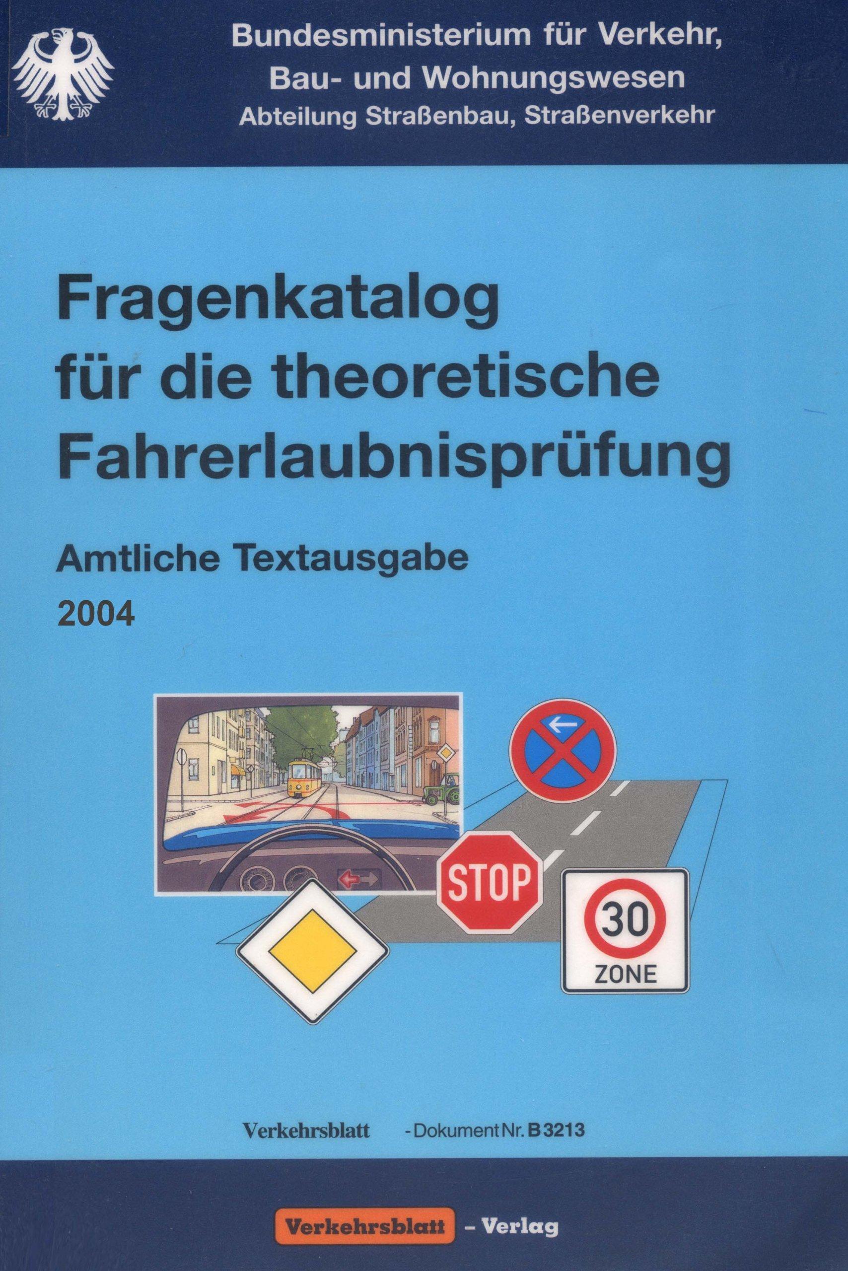 Fragenkatalog für die theoretische Fahrerlaubnisprüfung