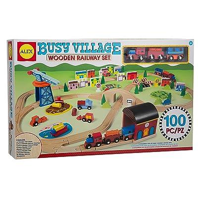 ALEX Toys Busy Village Wooden Railway Set: Toys & Games