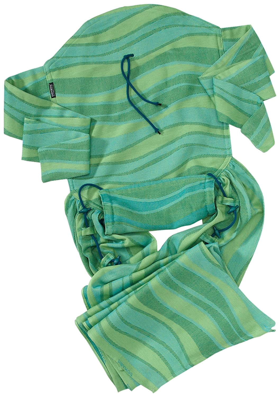 DIDYMOS Meh-Dai/Mei Tai (DidyTai) Baby Carrier Waves Lime (Organic Cotton), One Size