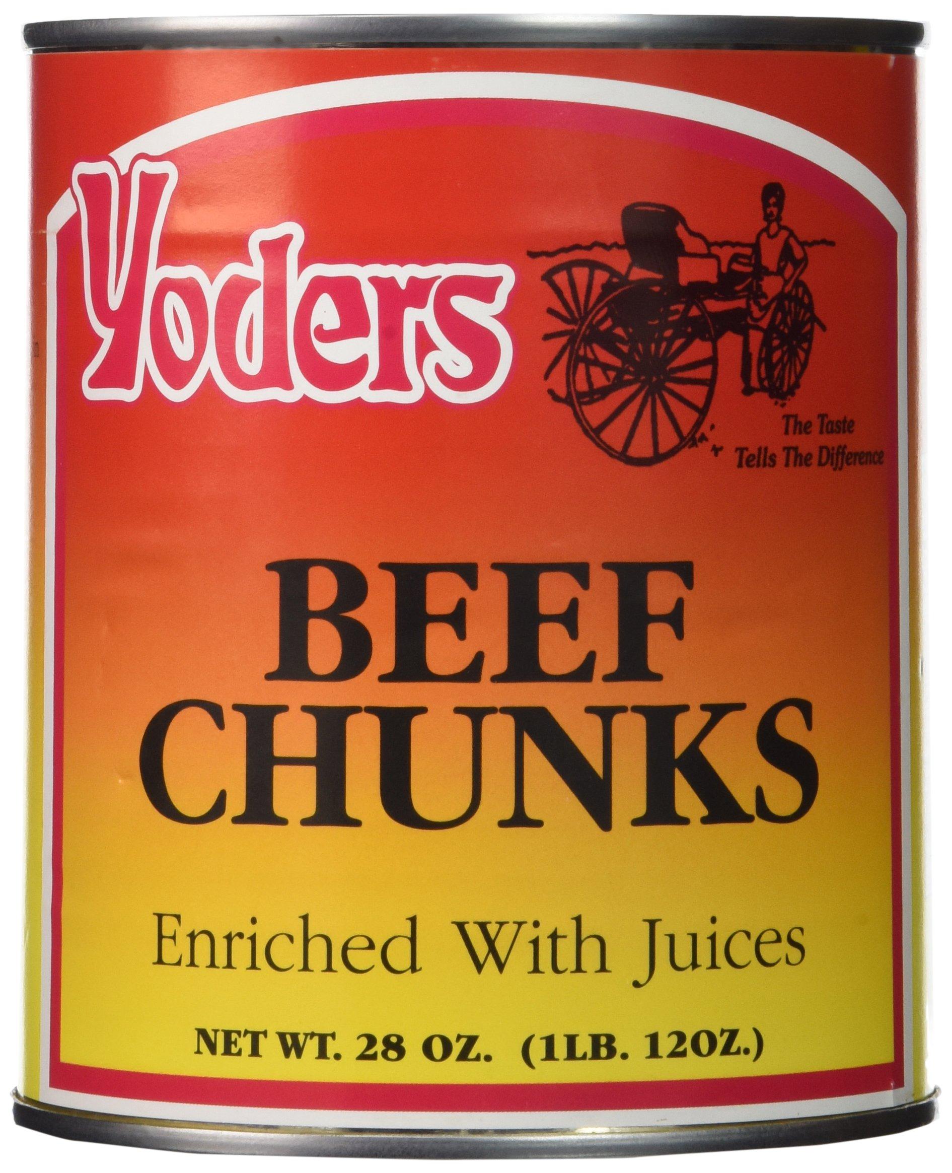 Yoder's Canned Premium Boneless Beef Chunks, 28 Oz(1 lb.12 Oz,1 can)