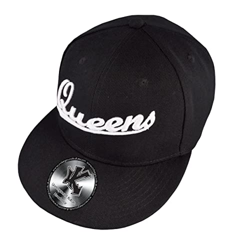 63a81b740a7 Amazon.com   New York City Queens Fitted Baseball Cap 7 1 2