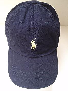 Gorra Polo Ralph Lauren, gorra para hombre/mujer con logo de caballo de color amarillo, ajustable, azul marino: Amazon.es: Deportes y aire libre