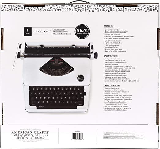 American Crafts We R Memory Keepers Typecast Teal Typewriter Ribbon