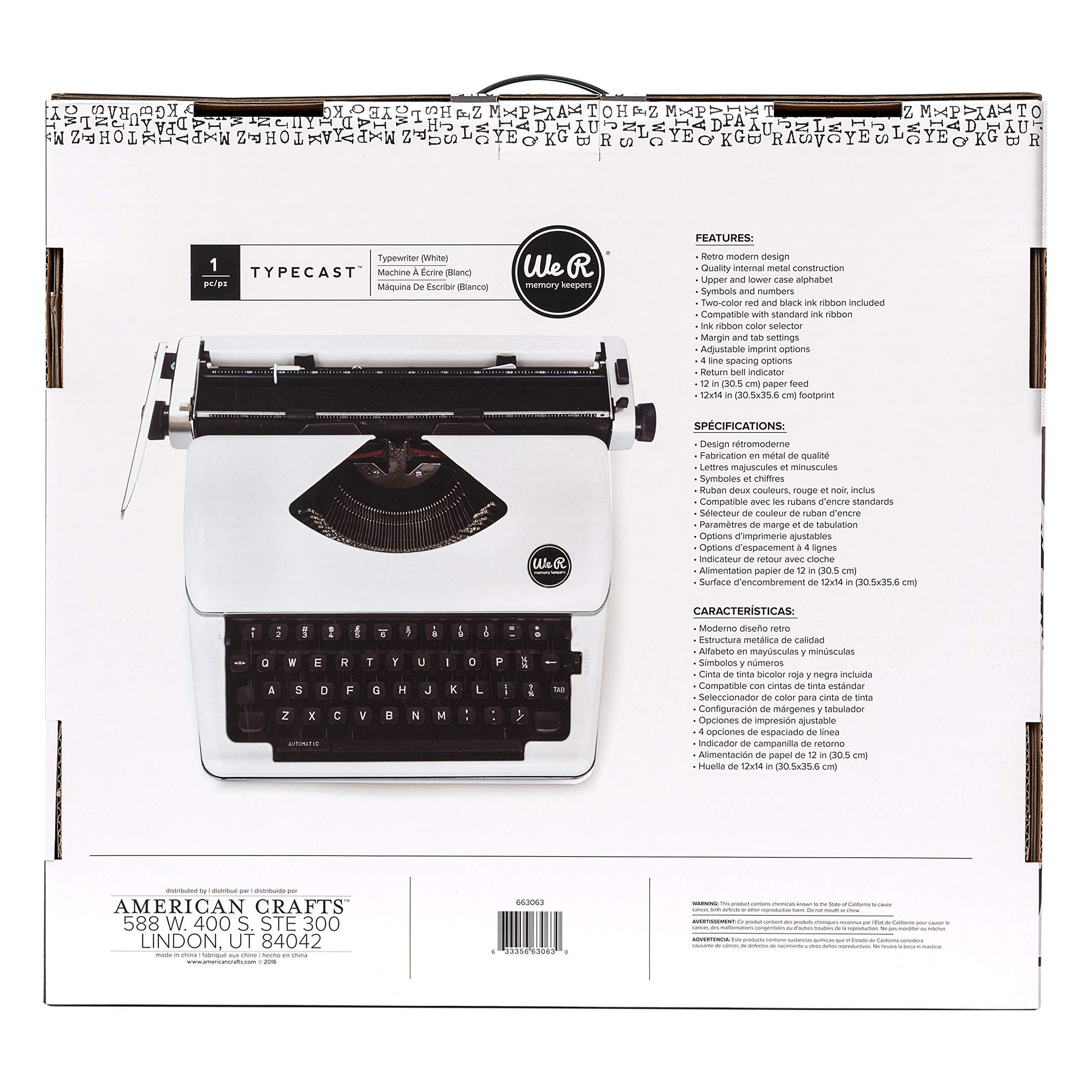 Typecast Retro Typewriter by We R Memory Keepers | White by We R Memory Keepers