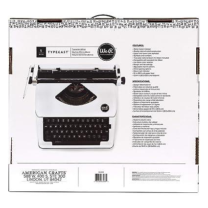 Typecast Retro Typewriter by We R Memory Keepers | White