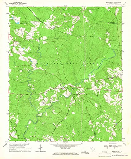 Amazon.com: South Carolina Maps | 1965 Winterseat, SC USGS ...