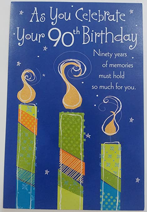 Amazon As You Celebrate Your 90th Birthday Greeting Card
