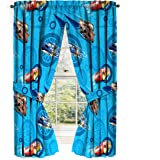 Disney/Pixar Cars 2 Movie City Limits Blue Drapery/Curtain 4pc Set (Two