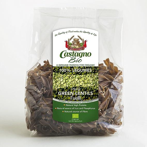 Pasta Fusilli 250 g verde de lentejas BIO