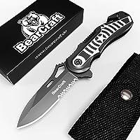 BearCraft Cuchillo Plegable en diseño Exclusivo con **