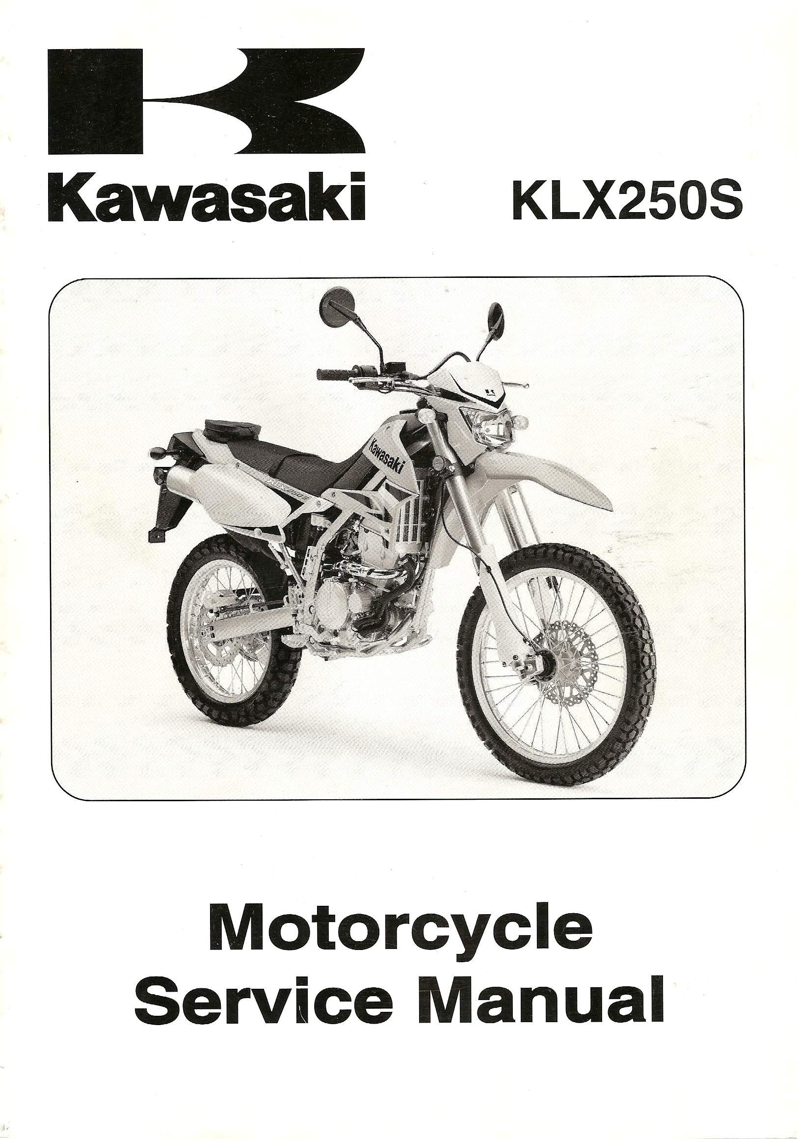 Kawasaki KLX250s Motorcycle Service Manual 2009: Kawasaki: Amazon.com: Books