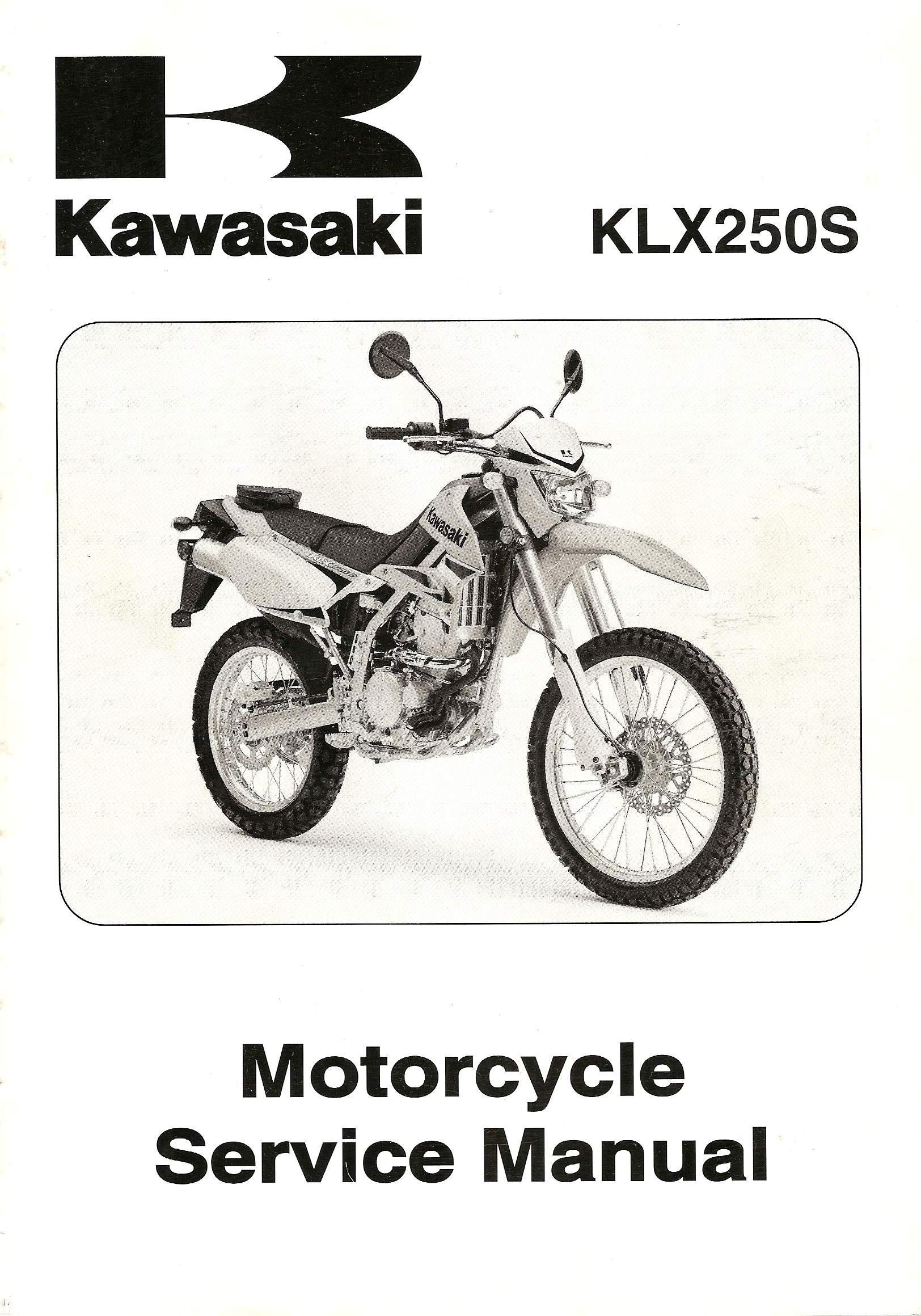 kawasaki klx250s motorcycle service manual 2009 kawasaki amazon rh amazon com 2009 kawasaki klx 250 service manual kawasaki klr 250 owners manual