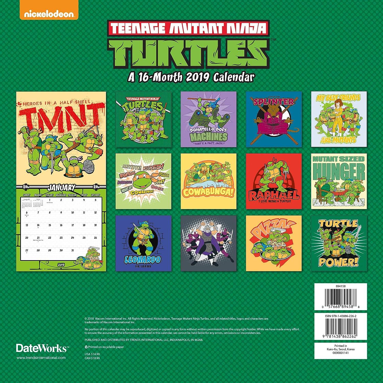 Juego de calendario de Tortugas Ninja 2019 de Teenage Mutant ...