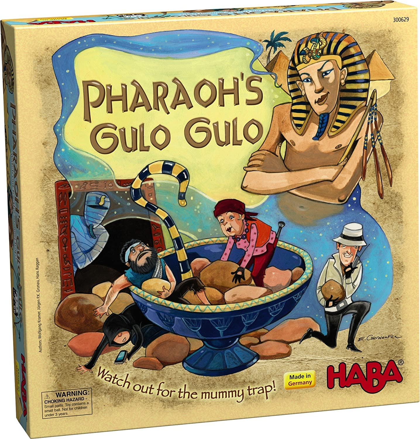 HABA Pharaoh's Gulo Gulo - An Exciting Dexterity Adventure Game for Ages 7 and Up (Made in Germany) by HABA