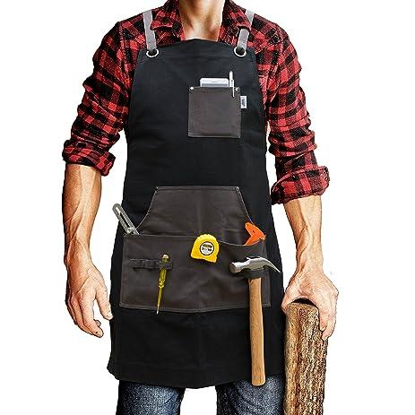 wood tool tattoos. work apron for men \u0026 women by premium rhino - heavy duty waxed canvas multiple wood tool tattoos e