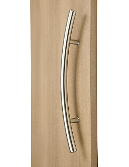 Modern and Contemporary Curve Offset Long Door Handle Pull ...