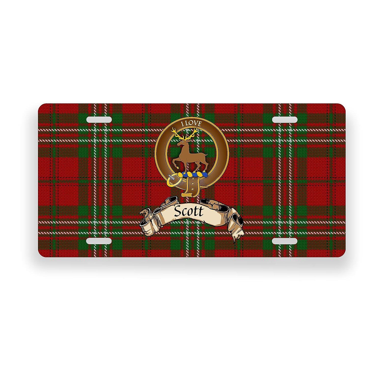 Scott Scottish Clan Tartan Novelty Auto Plate