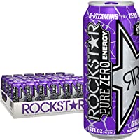 24-Count Rockstar Energy Drink Pure Zero Grape 16Oz Deals