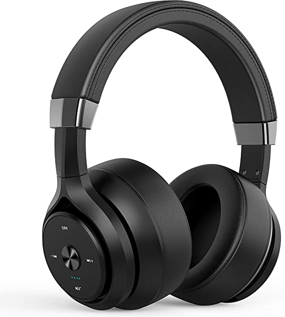 Bluetooth Headphones 40 Hours Playtime 4 Driver Units Hybrid EQ Bass Wireless Headphones Over Ear