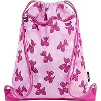 Fringoo Kid's Drawstring Bag With Front Zipped Pocket PE Kit Bag School Backpack