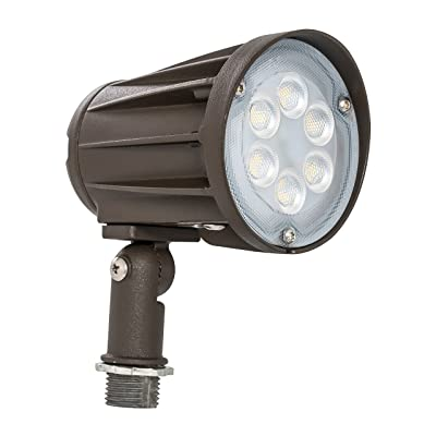 Westgate Lighting LED Outdoor Landscape Garden Bullet Flood Lights - Path Walkway Lawn Spotlights - Knuckle Mount - IP65 Waterproof - High Lumen - 120-277V (15W 5000K Cool White Knuckle)