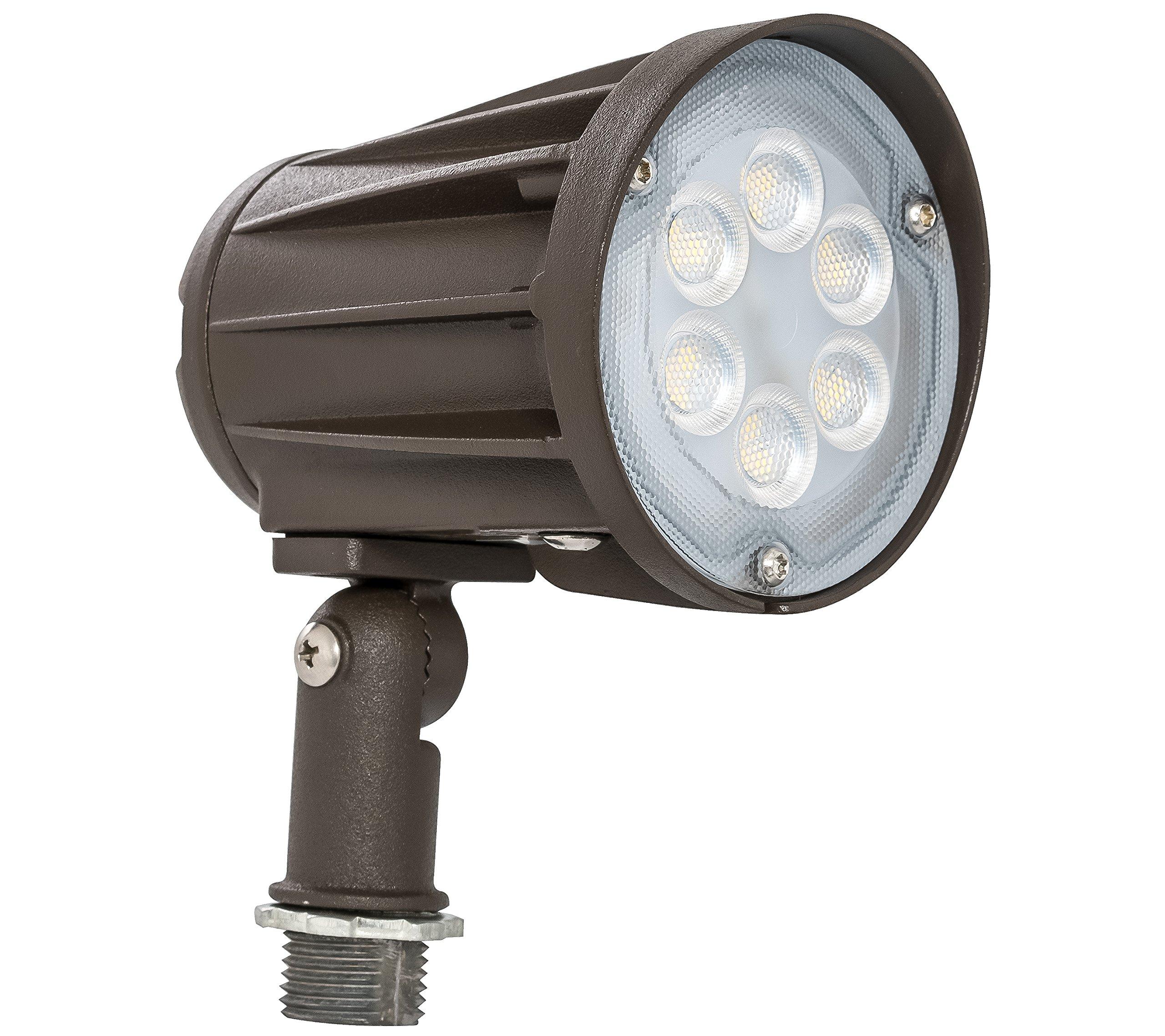 Westgate Lighting LED Outdoor Landscape Garden Bullet Flood Lights - Path Walkway Lawn Spotlights - Knuckle Mount - IP65 Waterproof - High Lumen - UL/DLC Listed - 120-277V (15W, 3000K Knuckle)