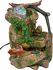Tabletop Fountain Indoor Fountain Natures Waterfall in Moss Rocks