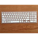Neon Silicone Rubber Protector Keyboard Skin Cover for Dell Inspiron 15 3000,5000, i3541, 15-3542, 15-3543, 15-3551, 15-3552, 15-3558, 15-5545,15-5547