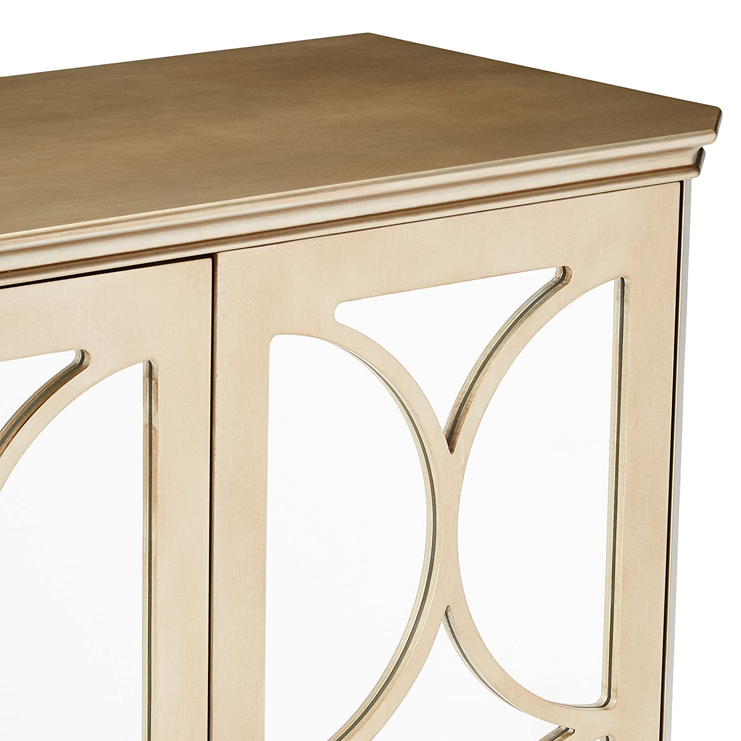 Mirrored Doors Kings Brand Furniture Kings Brand Gold Finish Buffet Server Cabinet//Console Table