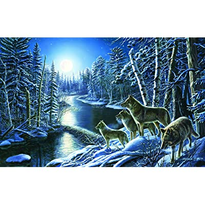 Silent Shadows - Winter Wolf Nature Puzzle - 550 Pc Jigsaw Puzzle by SunsOut: Toys & Games