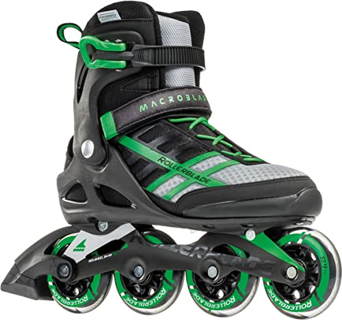 Rollerblade Macroblade 84 Men s Adult Fitness Inline Skate, Black and Green, Performance Inline Skates