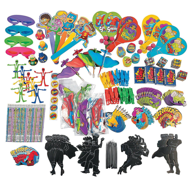 Fun Express - Super Hero Assortment - 250pc - Toys - Assortments - 250Pc Assortments - 250 Pieces by Fun Express