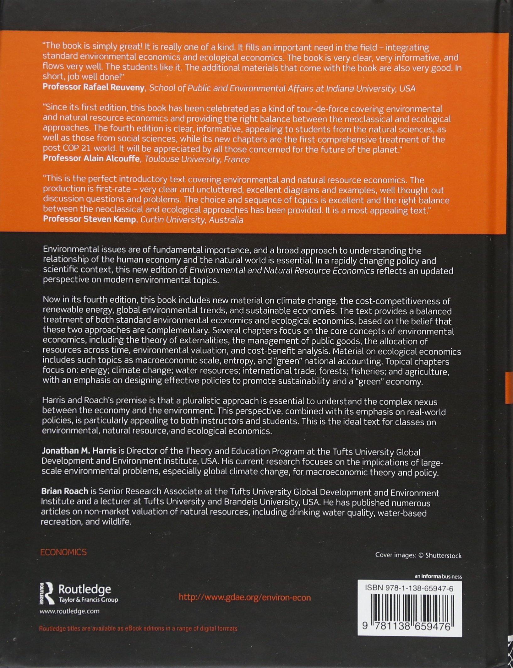 Environmental and Natural Resource Economics A Contemporary