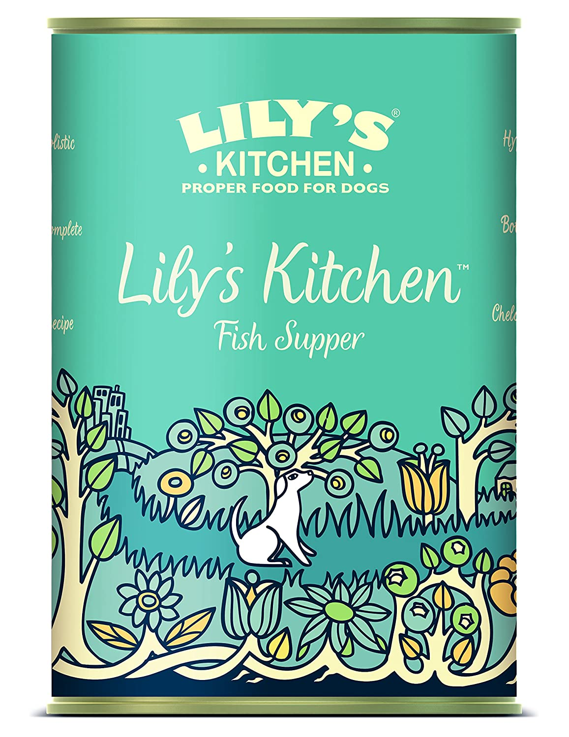 LILY\'S KITCHEN Fish Supper Wet Food for Dogs 400g: Pet Supplies ...