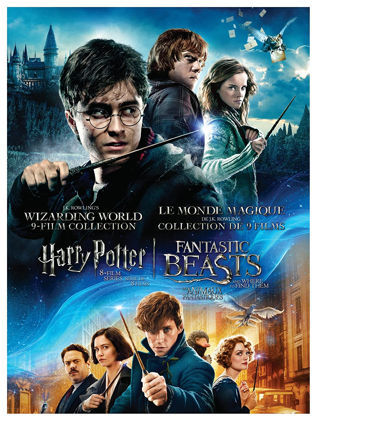 J.K. Rowling's Wizarding World 9-Film Collection: Harry Potter 8-Film Series David Yates Daniel Radcliffe Rupert Grint Emma Watson